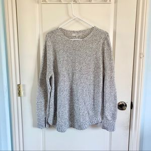 LOFT | Grey and White Knit Sweater